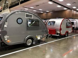 Two RV Trailers at RV Show