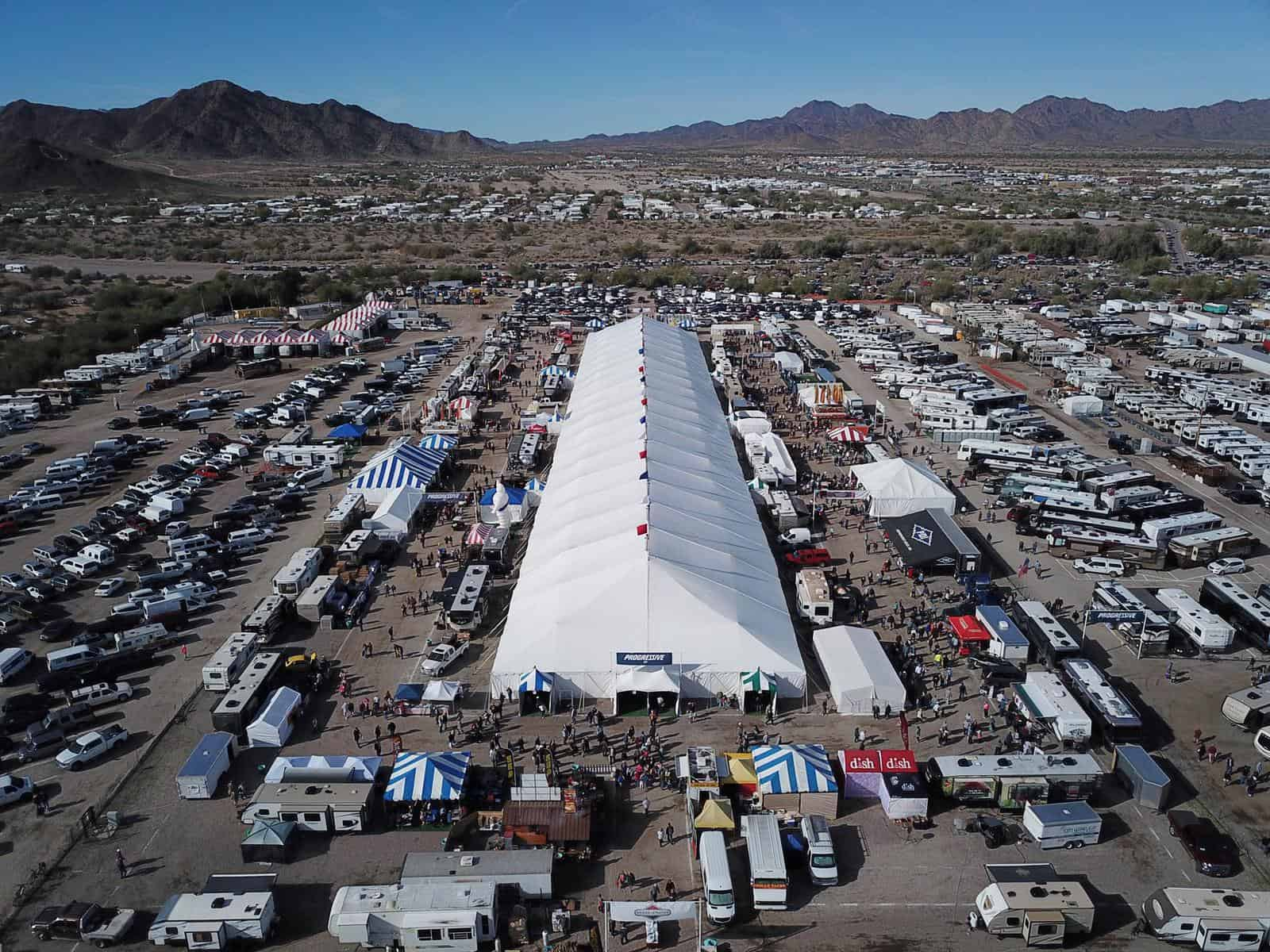 Quartzsite RV Show Parking Lot