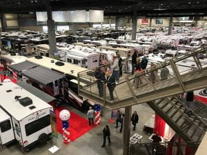 Motorhomes on Floor of RV Show