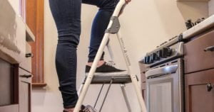 Person on Step Stool
