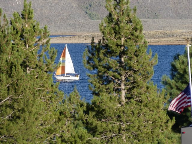 sailboat on lake