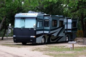 Large RV In Park