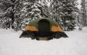 Tent in snow