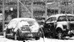 Cars with snow