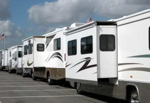 RV lined up